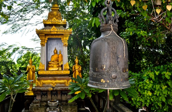 buddhas and bells - approaching the golden mount