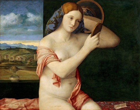 Naked Young Woman in Front of the Mirror- Giovanni Bellini