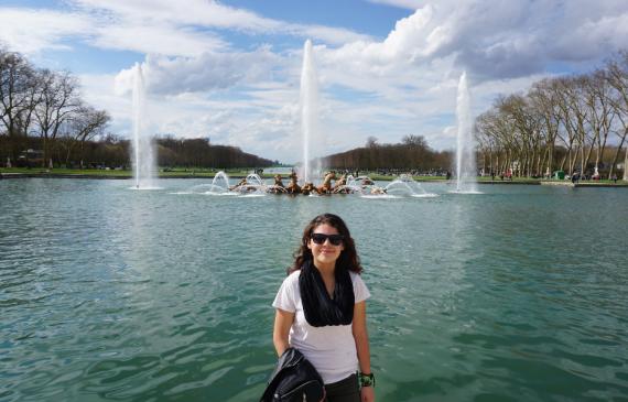 Ana at Versailles