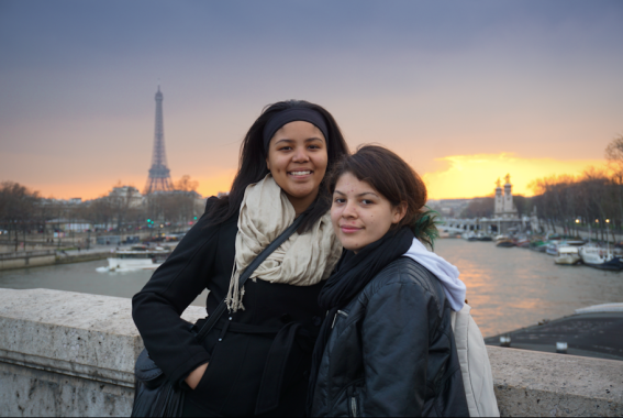 Destyni and Ana at Eiffel Tower