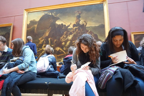Destyni and Ana - At the Louvre