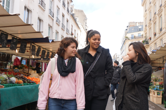 Destyni and Ana - Strolling through a Paris Market
