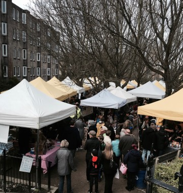 stockbridge market in Edinburgh