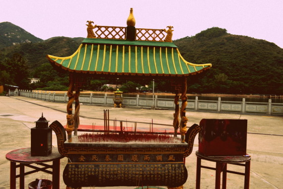 Tin Hau Temple on Lamma Island, one of our day trips from Hong Kong