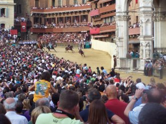 Palio in Siena in action