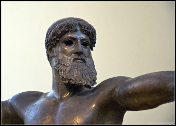 Bronze Poseidon in the Athens archaeological museum