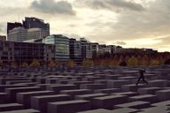 Berlin's Memorial to the Murdered Jews of Europe; photo by Alphamouse via Wikipedia