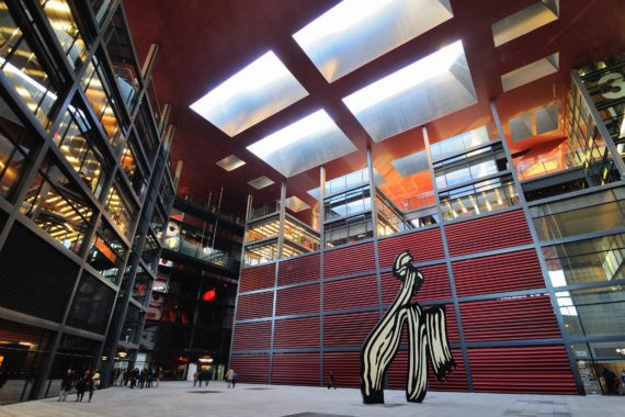 The Nouvel Building at the Reina Sofia museum, home of Picasso's Guernica