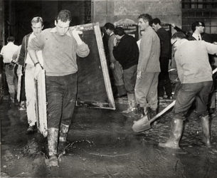 Mud Angels at the Uffizi during the 1966 Florence Flood