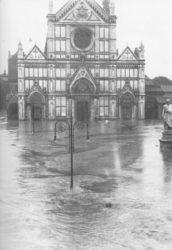 The Santa Croce church during he Florence Flood of 1966