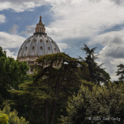 Vatican gardens where the Pope's elephant grazed