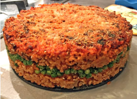 A rich Rice Timbale