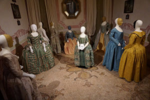 Venetian Costumes at Palazzo Mocenigo, Venice.