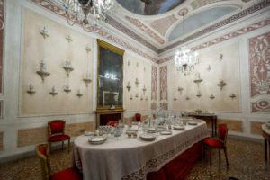 Dining room at Palazzo Querini Stampalia, Venice.