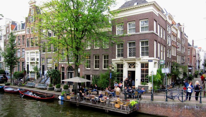 One of our picks for the best pubs in Amsterdam: Cafe 't Smalle.