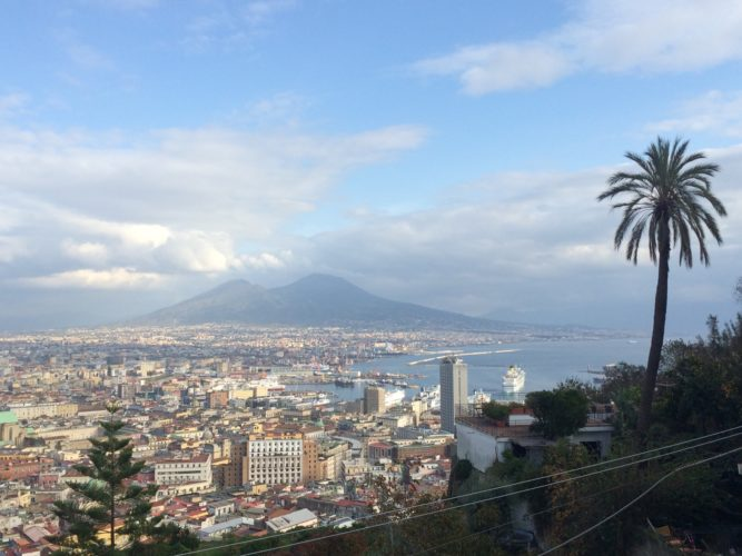 brilliant view while visiting Naples