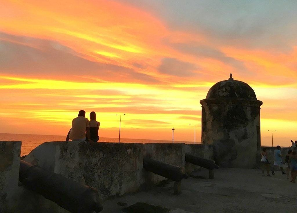 Visiting Cartagena by sunset